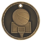 3-D Basketball Medal