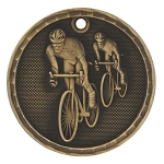3-D Bicycling Medal