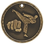 3-D Martial Arts Medal