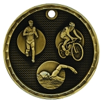 3-D Triathlon Medal