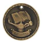 3-D Lamp of Knowledge Medal