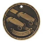 3-D Pinewood Derby Medal