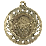 Galaxy Basketball Medal