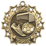 Ten Star Soccer Medal
