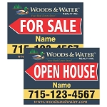 Woods & Water Realty Full Color Corrugated Plastic Sign