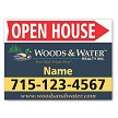 Open House sign with arrow