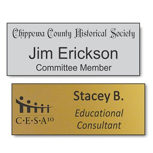 "1 1/4""x 3"" Engraved Name Tag"