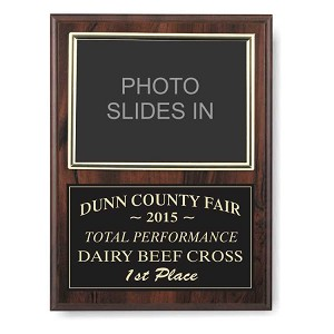 Cherry Finish Plaque with Brushed Gold Platae